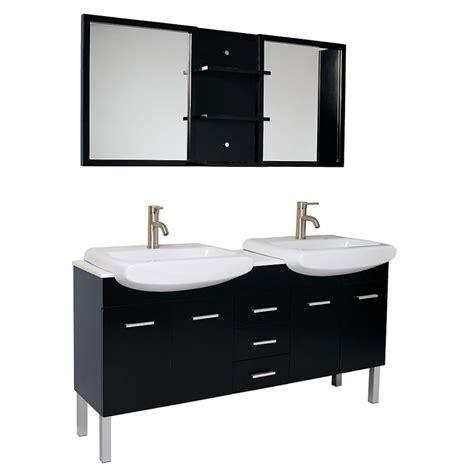 double sink mirrored bathroom vanity 59 inch espresso modern double sink bathroom vanity with