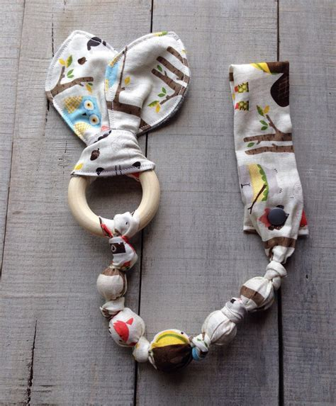 Cloth Wood Teething Toy Google Search Baby Pinterest