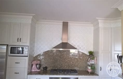 feature wall tiles kitchen original kitchen bench feature wall white satin 7189