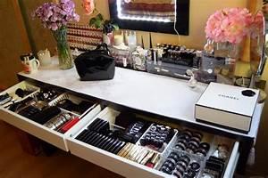 Coiffeuse Avec Rangement : mon rangement maquillage my beauty qu bec ~ Teatrodelosmanantiales.com Idées de Décoration