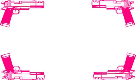 holly pink gun border clip art  clkercom vector clip