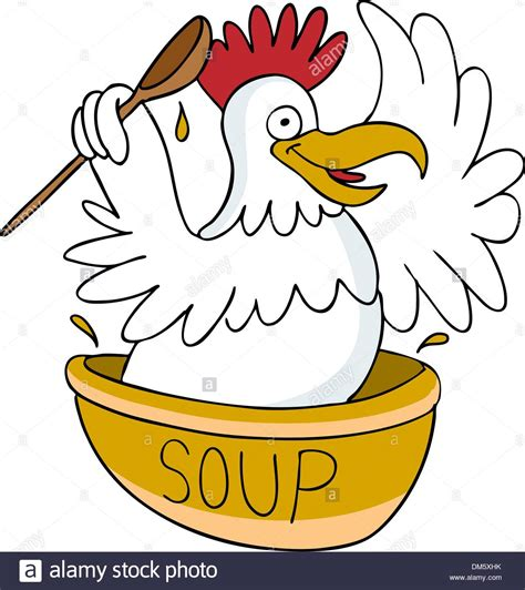 Chicken Soup Cartoon Stock Photos & Chicken Soup Cartoon