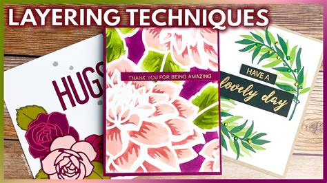 layering techniques  card making  paper crafts youtube