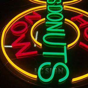 customized design 3d vintage stainless steel led neon sign With buy neon letters
