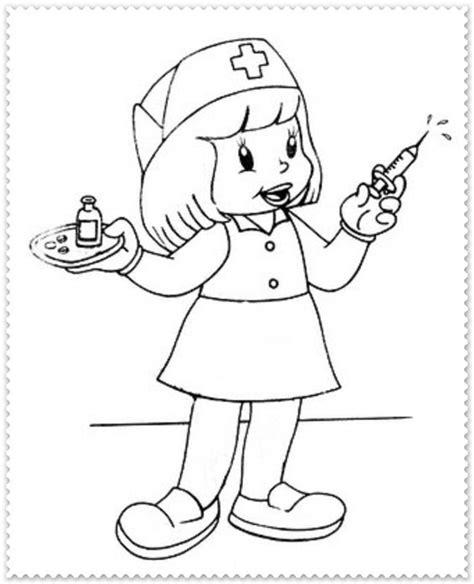 Kleurplaat Dokter Zuster by Zuster Ziek Zijn Kleurplaten