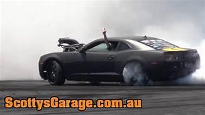 Killa-b Camaro Hits The Burnout