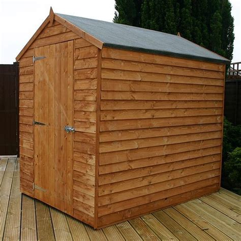 7 x 5 garden sheds 7 x 5 waltons windowless overlap apex wooden shed