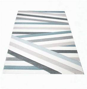 Teppich traum fussbodenheizungsgeeignet streifen muster 3 for Balkon teppich mit tapete blau beige gestreift