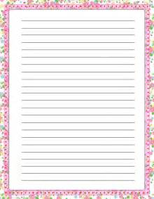 floral free printable stationery for primary