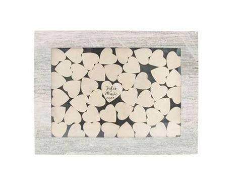 acheter livre d or cadre bois avec 45 cœurs d 233 corations mariage 1001 deco table