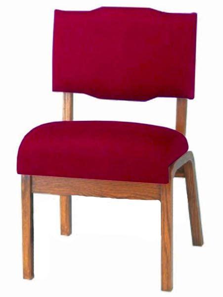 wide padded oak frame church chair t 350b