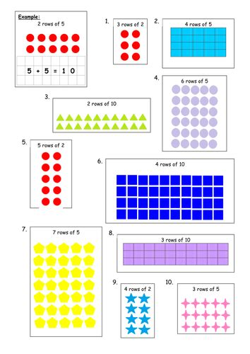 multiplication arrays 2x 10x block e unit 1 5th grade