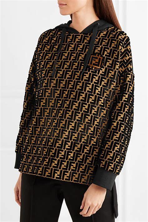 Fendi '18 SOLD OUT Velvet Logo Monogrammed Hooded Top ...