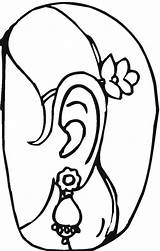 Coloring Pages Jewelry Earrings Template Clipart Clip Popular Library Coloringhome Templates sketch template