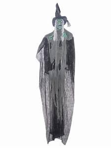 Halloween Deko Günstig Kaufen : fiese horror hexe halloween mega deko schwarz grau gr n ~ Michelbontemps.com Haus und Dekorationen