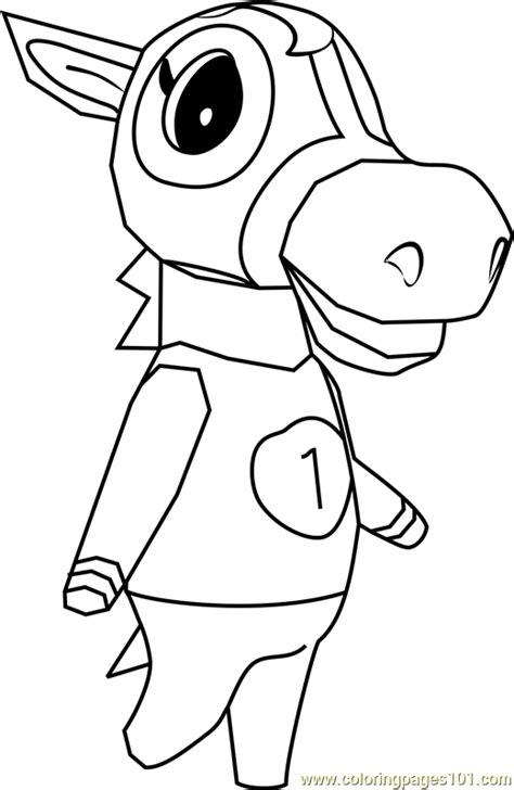 victoria animal crossing coloring page  animal crossing coloring pages coloringpagescom