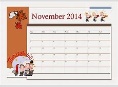 Nov Calendar With Thanksgiving Printable Calendar 2018