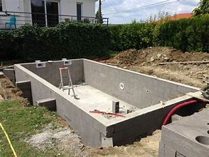 construction piscines beton arme moselle With construction d une piscine beton