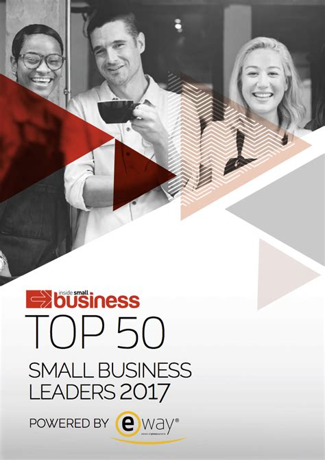 Top 50 Small Business Leaders Report 2017 Inside Small
