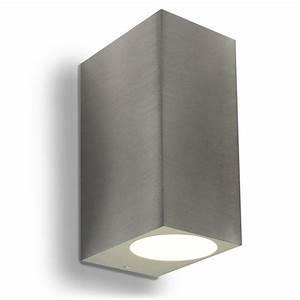 Außenleuchte Edelstahl Led : led wandleuchte wandlampe au enleuchte aluminium 2 flammig edelstahl geb gu10 230v form i ~ Watch28wear.com Haus und Dekorationen