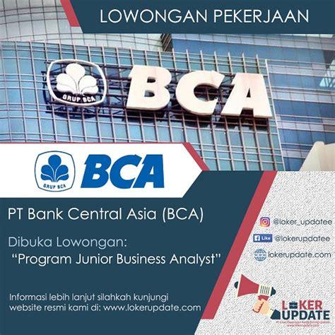 lowongan kerja program junior business analyst bank bca