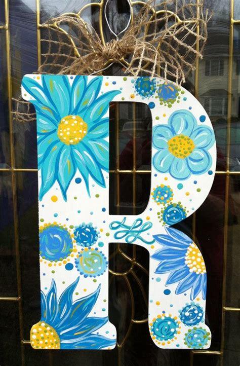 wooden letters custom paintedyou pick  jenissocrafty  initial door hanger