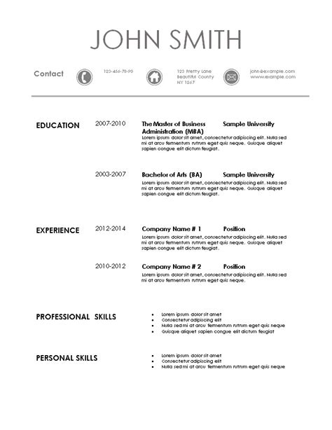 Resume Templatescom by Simple Resume Template