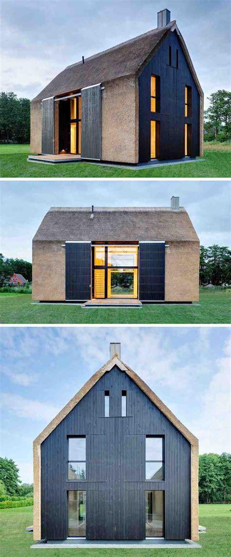 Toit De Chaume  élément De L'architecture Moderne Unique