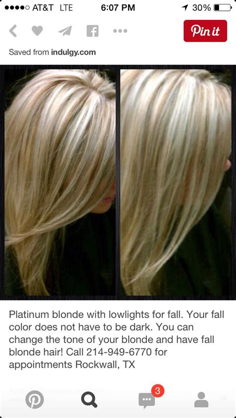 platinum blonde  lowlights  fall    hair