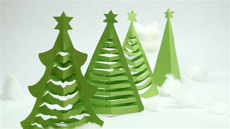 christmas tree out of paper how to make tree in 5 min at home with origami paper scissior only