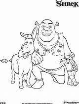 Shrek Shrek3 Coloring Pages sketch template