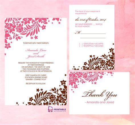 foliage borders invitation rsvp    cards
