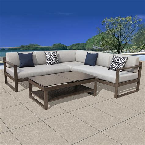 small outdoor sectional sofa small outdoor sectional sofa 28 images rushreed 3