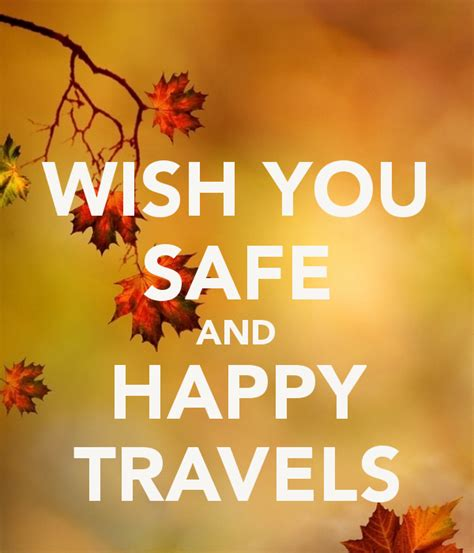 Wish You Safe And Happy Travels Poster Short Hair