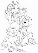 Hairdresser Coloring Lego Friends Olivia Printable Getdrawings Getcolorings sketch template