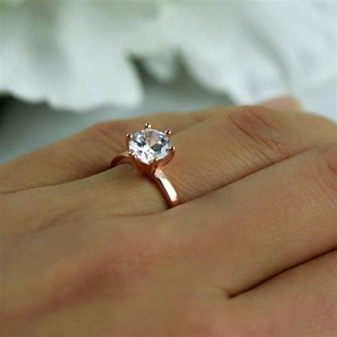 ct engagement ring  prong solitaire ring man