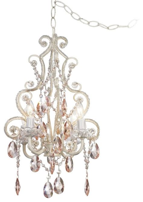 plug in chandelier lighting leila collection plug in swag chandelier traditional