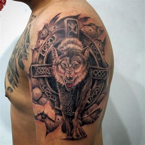 nordic wolf tattoo meaning