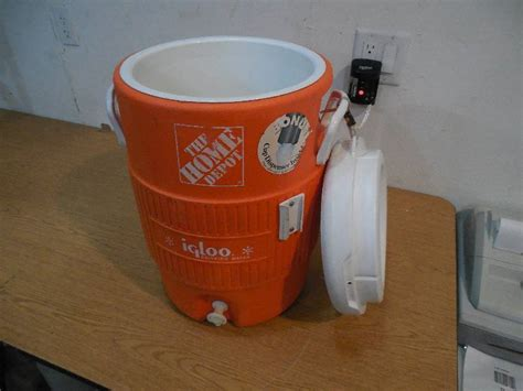 The Home Depot 5 Gal. Orange Water Cooler Easy Landscaping Ideas Backyard Mosquito Fogger Wooden Gym Sets Diy Stream Weather Station Store Greenhouse Kit Football Computer Game