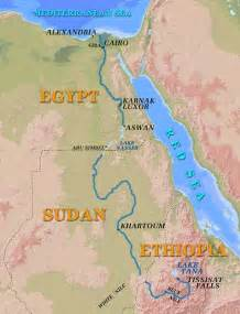 Nile River Location On Map