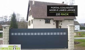 Modele De Portail Coulissant : portail design coulissant aluminium prix direct usine ~ Premium-room.com Idées de Décoration