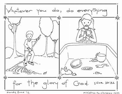 Coloring God Glory Everything Lesson Job Bible