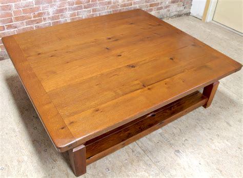 oak coffee table with slatted shelf ecustomfinishes