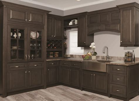 Stonedale Gray Stained Kitchen Cabinets
