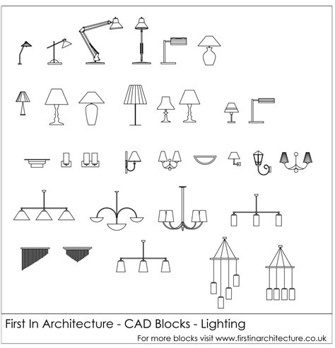 cad blocks lighting