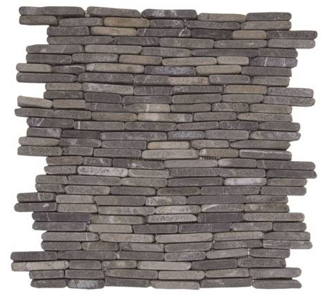 grey stacked grey stacked brick marble interlocking 11 6 quot x11 6 quot product bati orient import