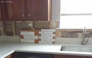 kitchen backsplash installation duo ventures kitchen makeover subway tile backsplash installation