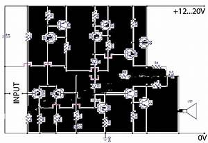 Ab Transistor Audio Power Amplifier Circuit Diagram