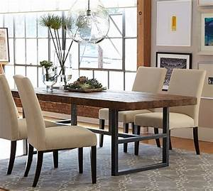 griffin reclaimed wood fixed dining table pottery barn With griffin reclaimed wood coffee table