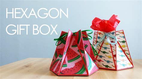 tutorial template hexagon gift box  favour box youtube